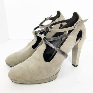 MaxMara Nude Mary Jane Style Heels Size 40 US 10